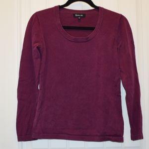 Dalia Crew Neck Sweater in Purple Small